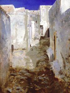 A street in Algiers. Tableau de John Singer Sargent.