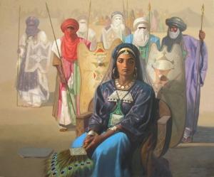 La reine Tin Hinan par l'Artiste Peintre Algerien Hocine Ziani.